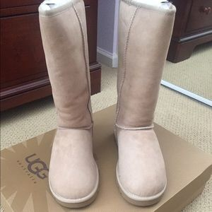 "Tall Ugg Boots ""Sand"" Size 7"